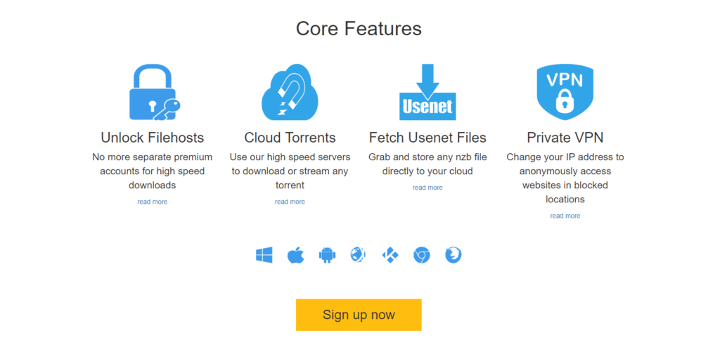 Core features of this premium only service