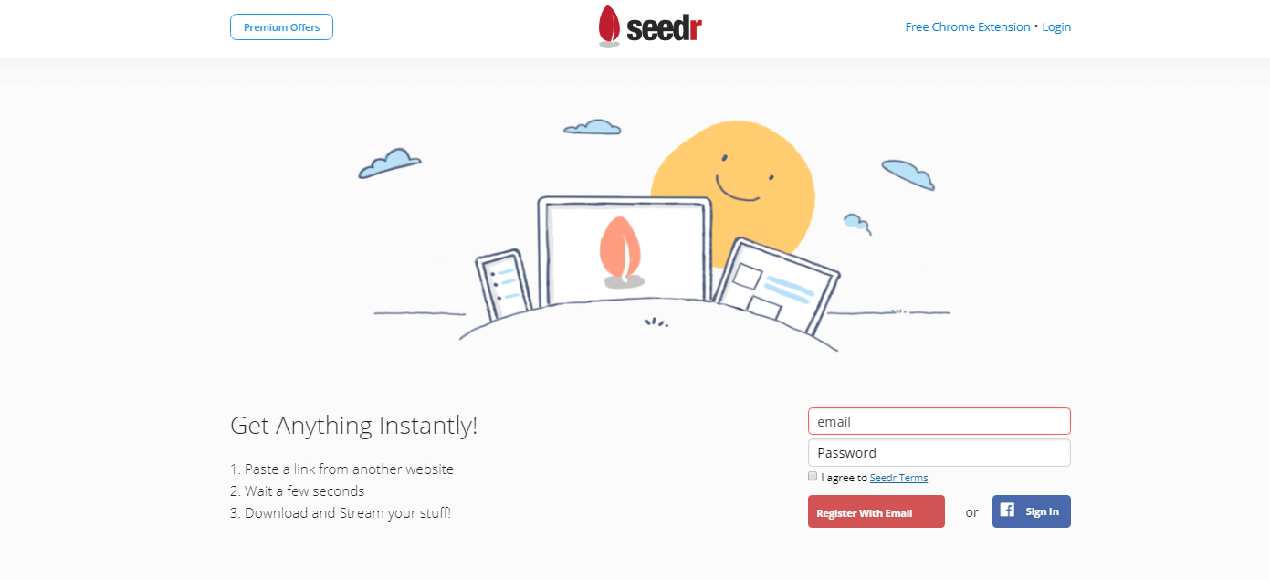 Landing page with Sun