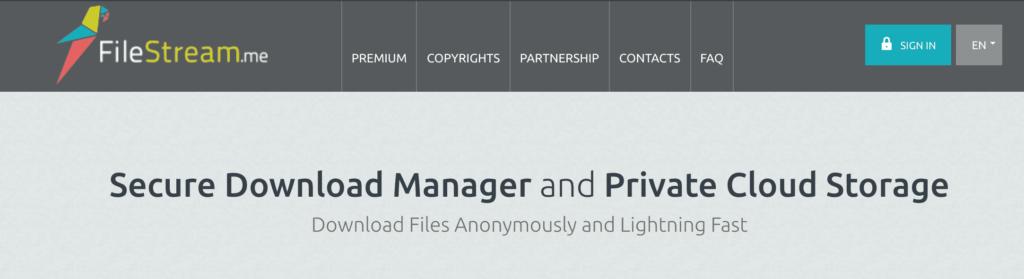 Filestream, another nice Zbigz Alternative